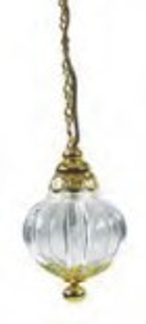 LG. Clear Bead Hanging Lamp