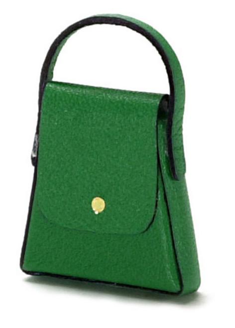 Dollhouse City - Dollhouse Miniatures Lady's Handbag  - Green