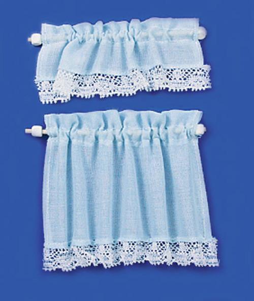 Curtains Set - Cottage Set and Blue