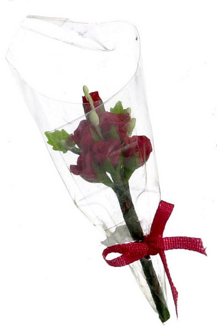 Six Rose Bouquet - Red