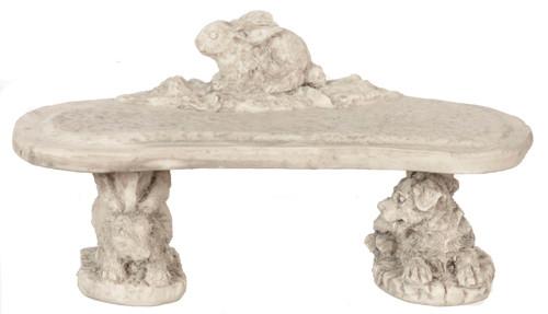 Dollhouse City - Dollhouse Miniatures Rabbit Bench Set - Grey