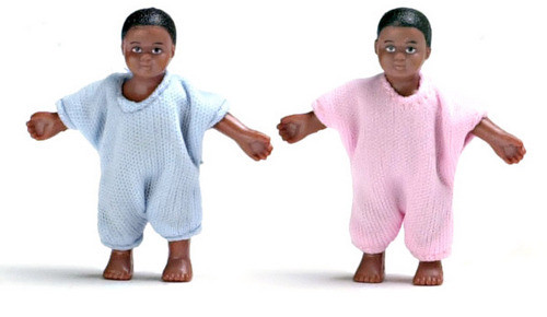Black Babies - Pink and Blue
