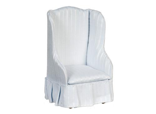 Dollhouse City - Dollhouse Miniatures Chair - Light Blue Stripe