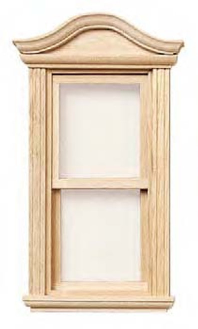Bonnet Pediment Double Hung Window