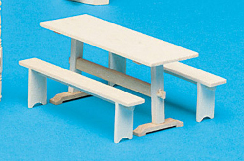 Trestle Table and 2 Benches Kit - Unassembled and Unfinished