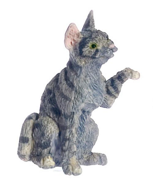 Dollhouse City - Dollhouse Miniatures Cat - Gray