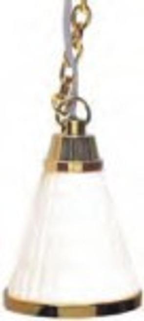 Cone Hanging Lamp - White