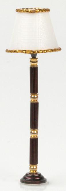 Brass Floor Lamp - Brown