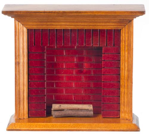 Dollhouse City - Dollhouse Miniatures Fireplace - Walnut