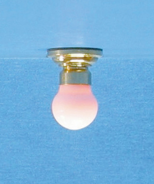 Dollhouse City - Dollhouse Miniatures Ceiling Lamp with Frosted Globe