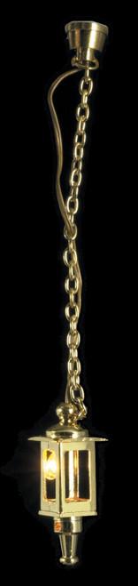 Dollhouse City - Dollhouse Miniatures Hanging Brass Coach Lamp