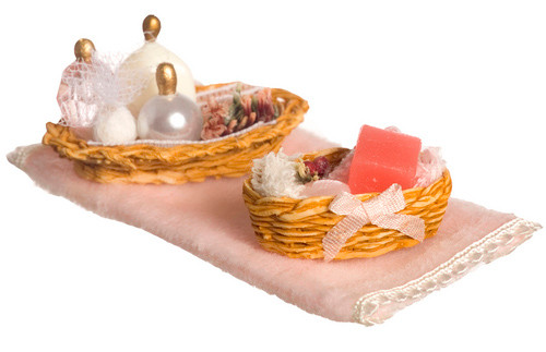 Dollhouse City - Dollhouse Miniatures Bathroom Accessories - Pink