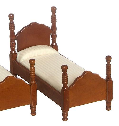 Twin Bed - Walnut
