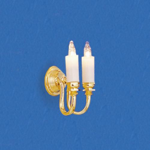 Dollhouse City - Dollhouse Miniatures Dual Candle Wall Sconce