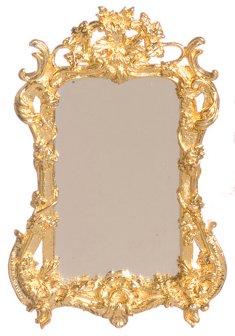 Dollhouse City - Dollhouse Miniatures Mirror - Gold Plated