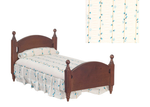 Single Bed with White Dots - Walnut