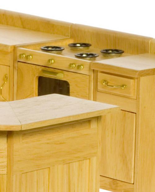 Kitchen Stove - Oak