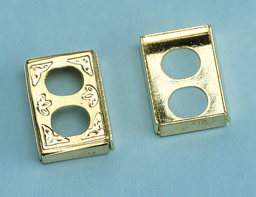 Dollhouse City - Dollhouse Miniatures Brass Outlet Cover
