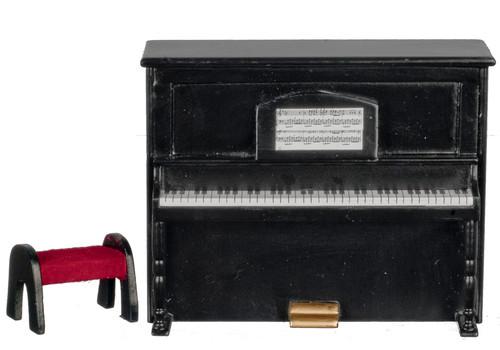 Upright Piano - Black