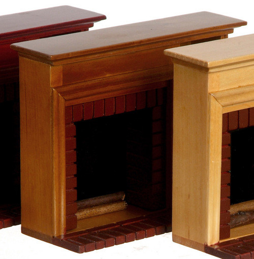Fireplace with Shelves - Walnut