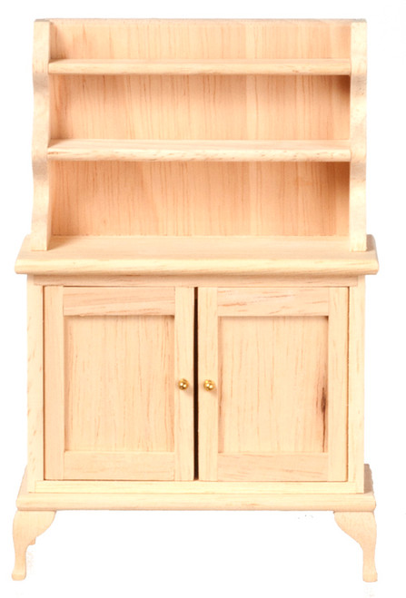 Dollhouse City - Dollhouse Miniatures Hutch - Unfinished