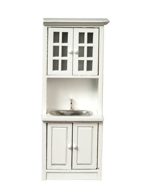 Cabinet with Sink - White