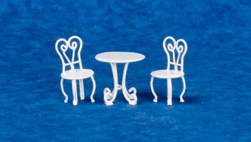 Dollhouse City - Dollhouse Miniatures Ice cream Parlor Set - White Wire