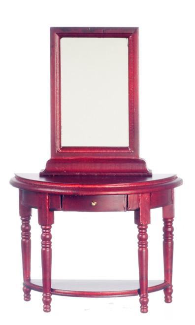 Hall Table and Mirror - Mahogany