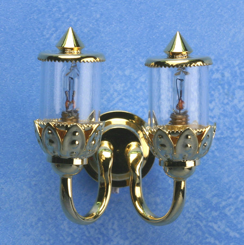 Double Ornate Coach Wall Lamp