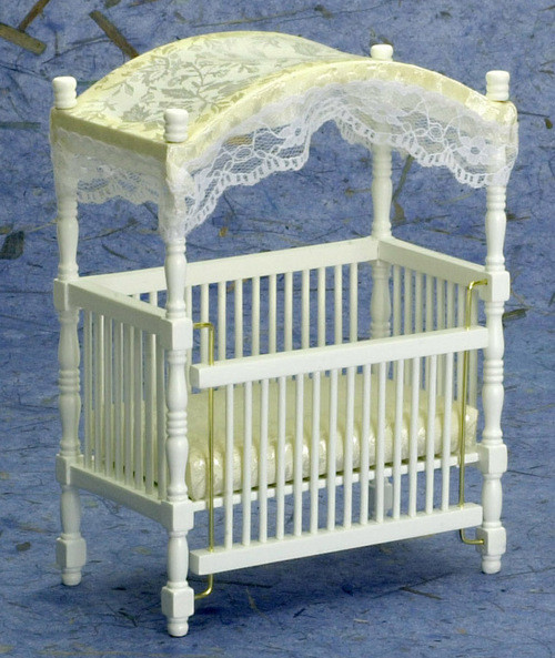 White Canopy Crib - White