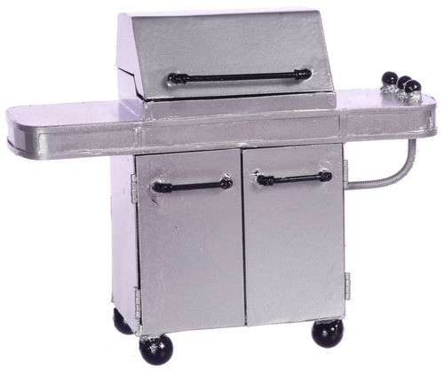 Dollhouse City - Dollhouse Miniatures Barbecue Grill - Silver