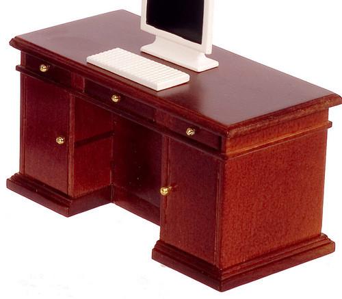 Kneehole Desk - Walnut