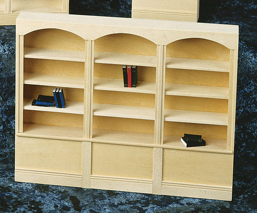 3-Unit Bookcase - Unfinished and Non-functional Cabinet