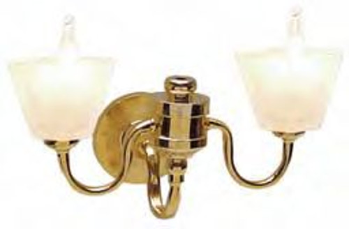 Double Frosted Square Wall Sconce