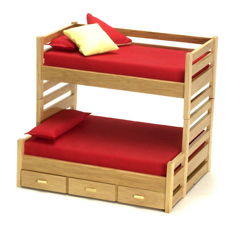 Bunk Bed with Trundle - Oak