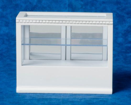 Rectangular Display Cabinet - White
