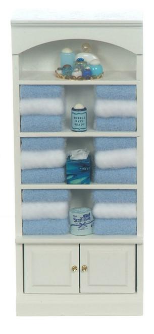 Bathroom Cupboard with Towels
