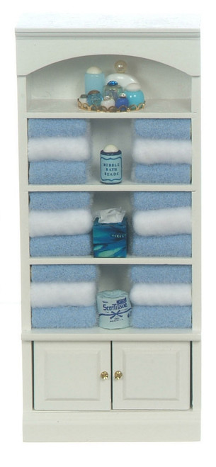 Bathroom Cupboard with Towels