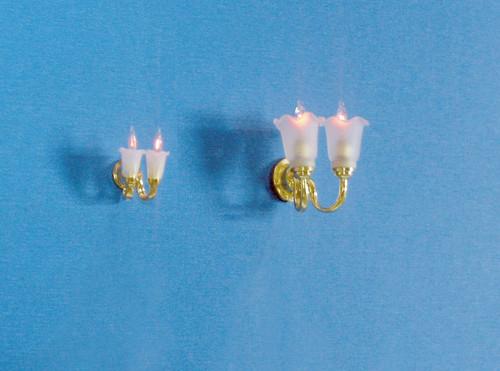 Dollhouse City - Dollhouse Miniatures Dual Tulip Sconce