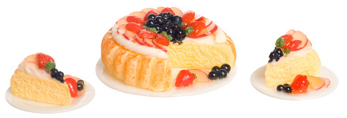 Fruit Cake with Two Dishes