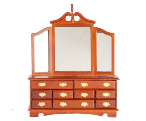 Victorian Dresser with Mirror - Walnut