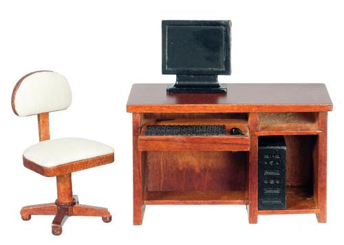 Computer Desk Set - Walnut