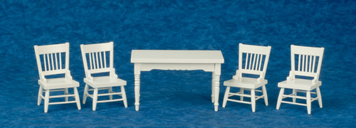 Oak Dining Set - White