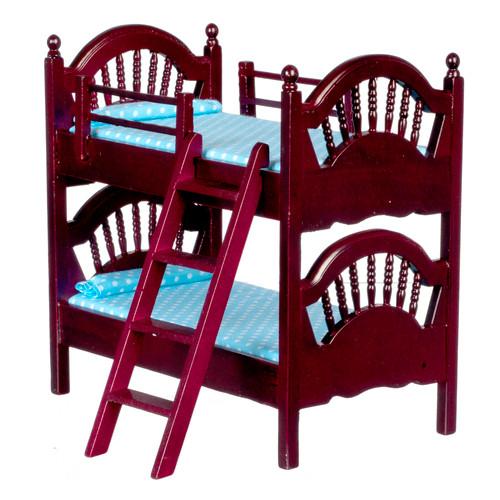 Spindle Bunk Bed - Mahogany