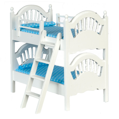 Spindle Bunk Bed - White