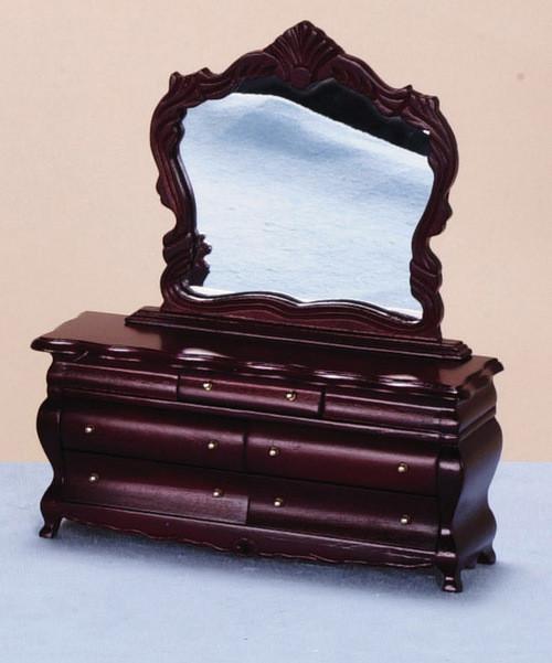 Fancy Vitcorian Dresser  with Mirror - Mahogany