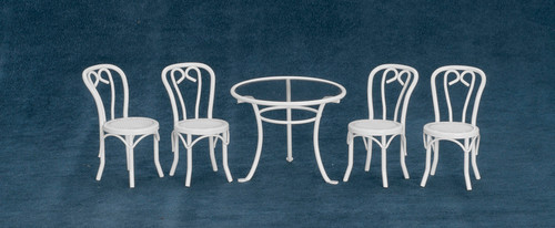 Five pieces Patio Table and Chairs