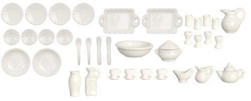 Porcelain Dinner Set - white