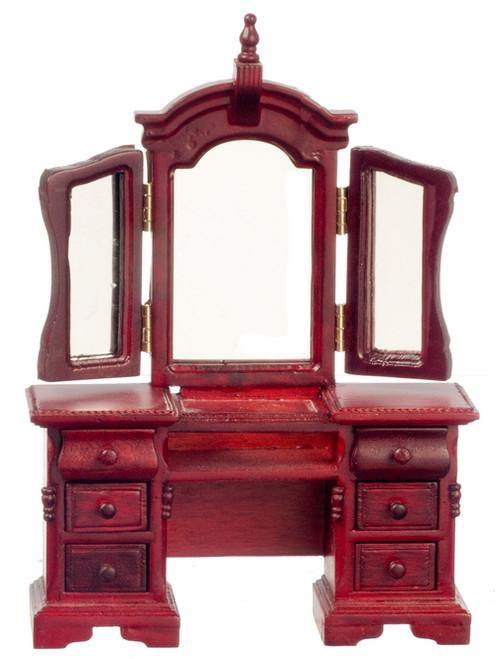 Vanity with Mirror  - Mahogany