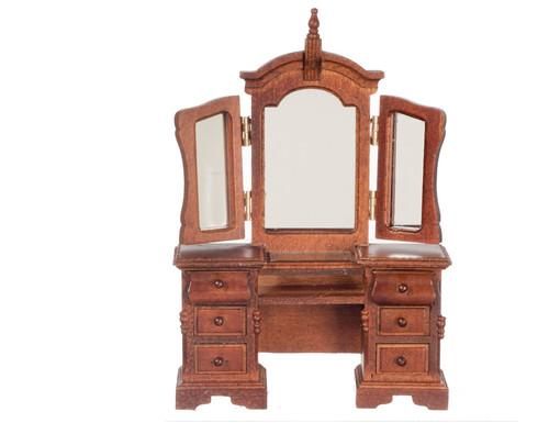 Vanity with Mirror - Walnut